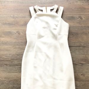 New Calvin Klein sexy cutout cream dress